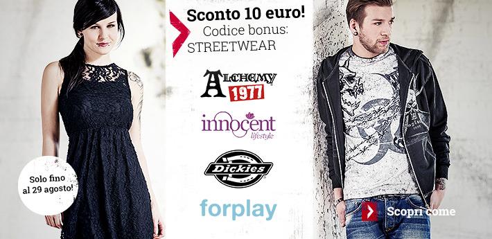 Risparmia ora 10 euro con Alchemy, Innocent, Dickies e Forplay