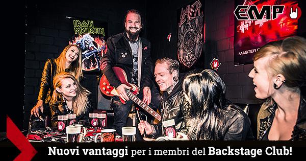 Nuovi vantaggi per i membri del Backstage Club EMP!
