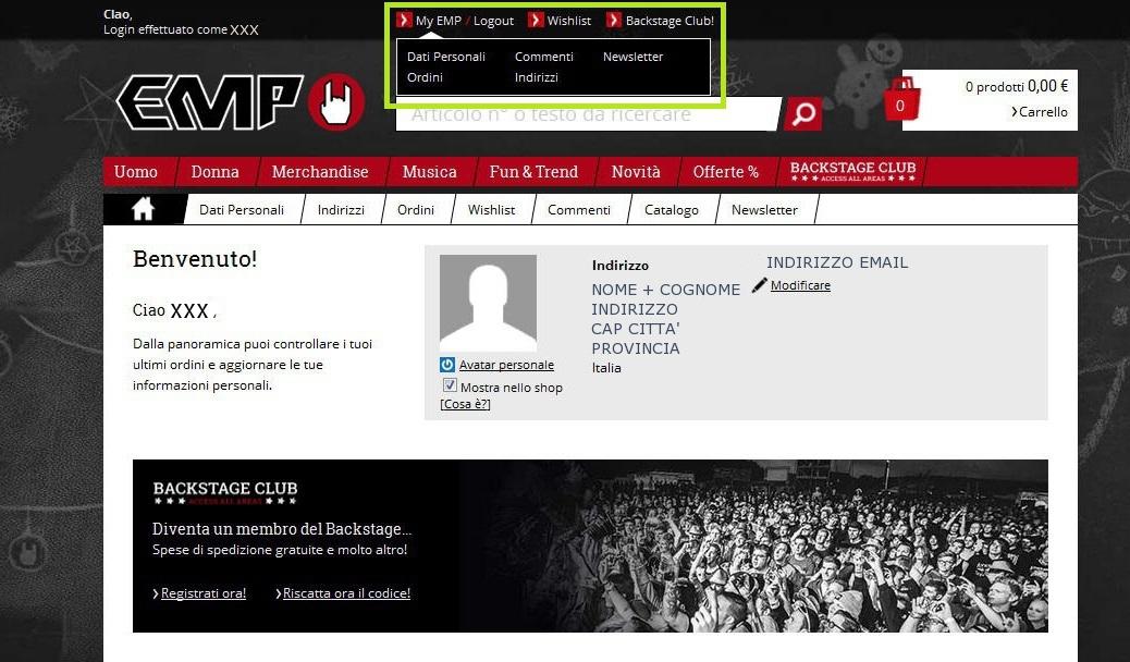 registrazione sito EMP