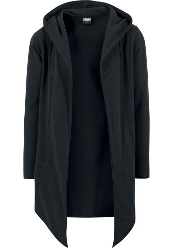 Long Hooded Open Edge Cardigan